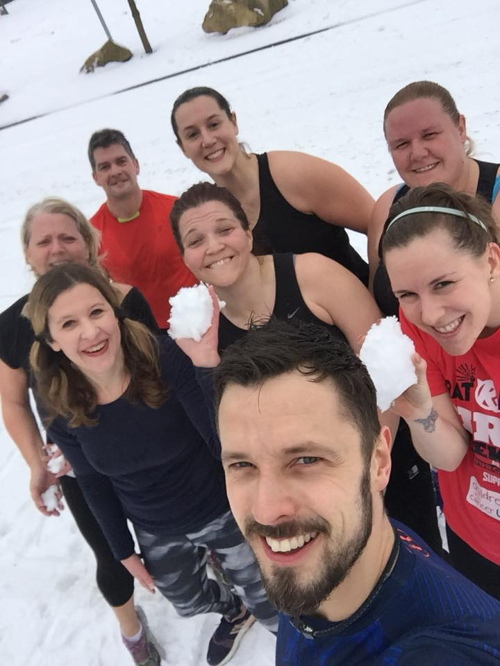 FitPay Group Class in the snow